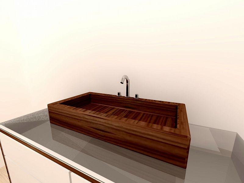Umivalnik iz lesa